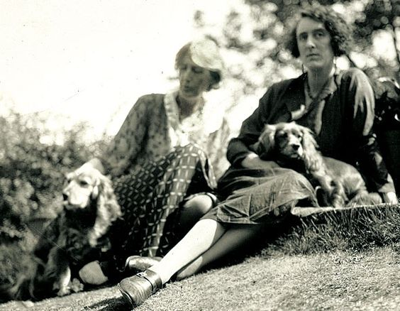 Virginia Woolf and Vita Sackville-West at Monk's House, Virginia's home.