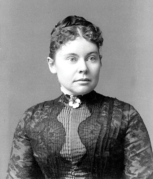 Lizzie Borden, 1890, looking glam.