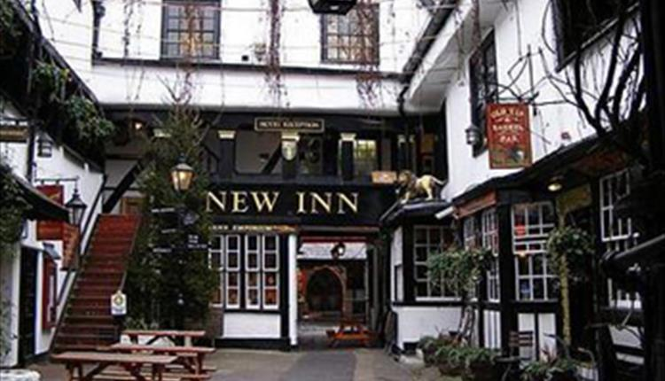 The New Inn, Gloucester. site of the Pilgrims Rest Gay monk Ghost! ( Source )