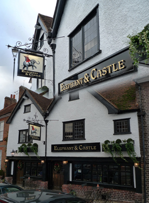 Elephant and Castle Pub, Amersham. Site of the bum-pinching ghost. ( Source )