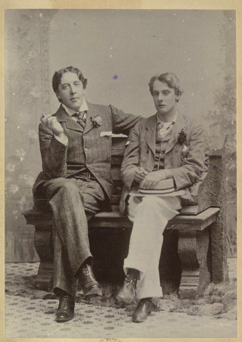 Oscar Wilde (Left) with lover Bosie Douglas (right), 1893.