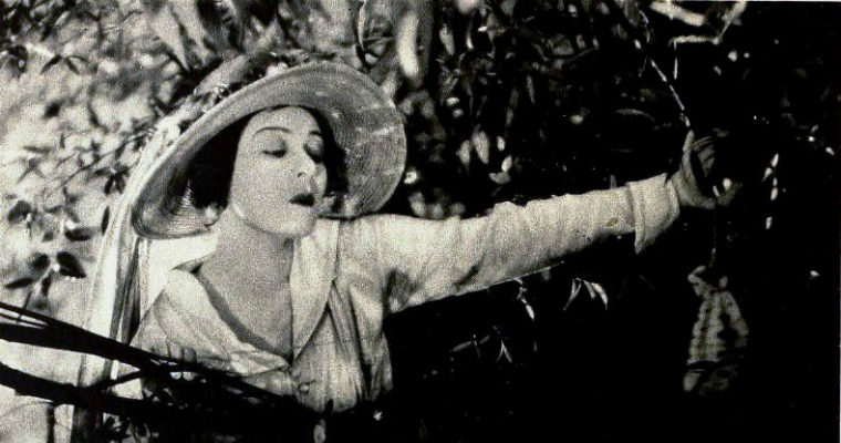 Silent screen actor Alla Nazimova.