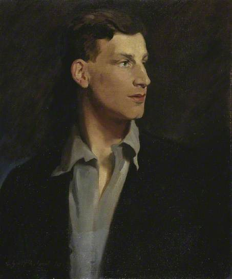 Portrait of the poet Siegfried Sassoon by Glyn Warren Philpot, 1917.