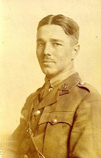 Portrait of Wilfred Owen from his 1920 collection of poems.