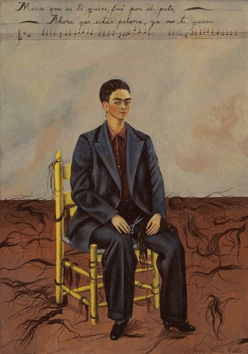 Self portrait with cropped hair , 1941.