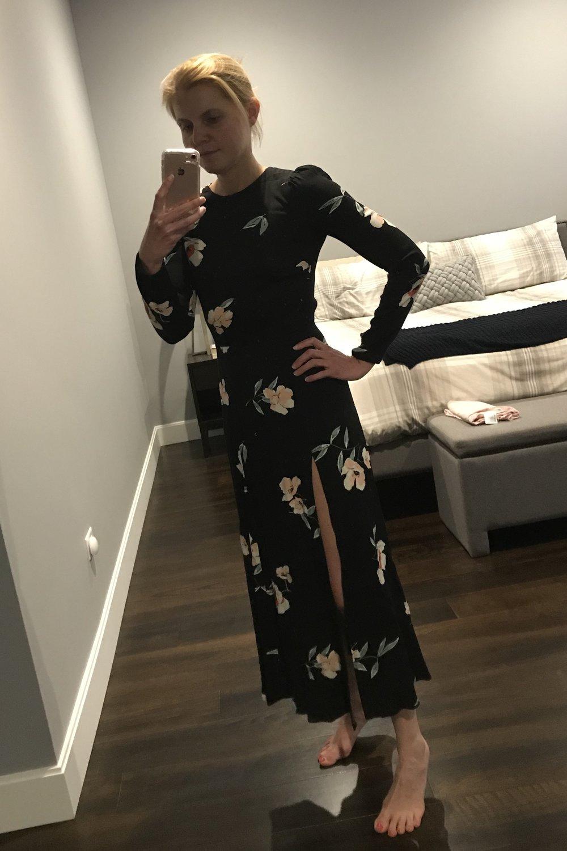 Black Floral Reformation Dress