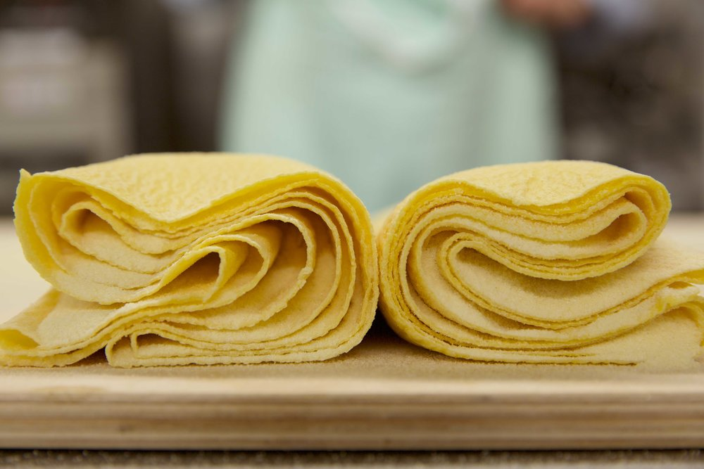 Rolls of pappardelle