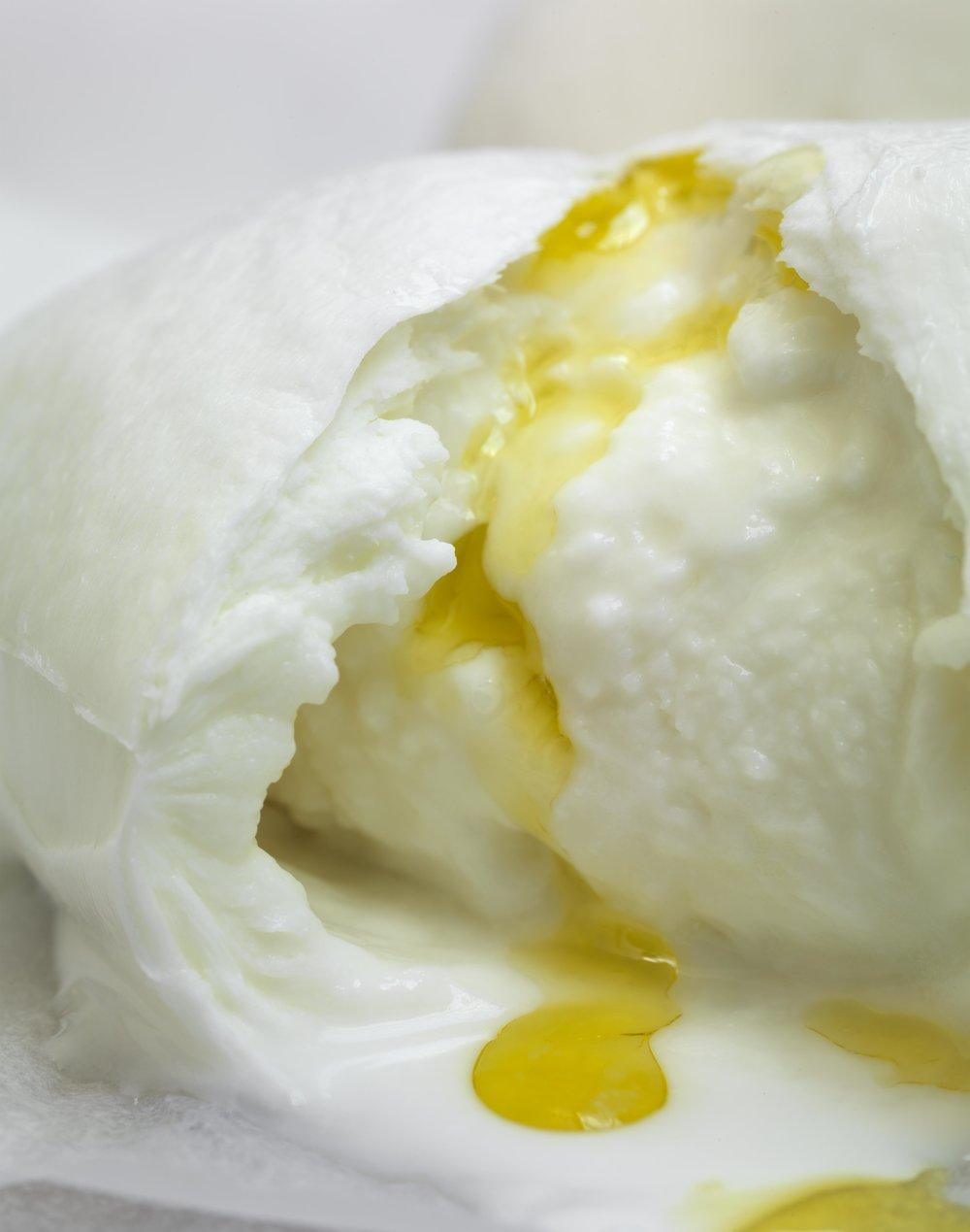 Wonderful oozy creamy burrata