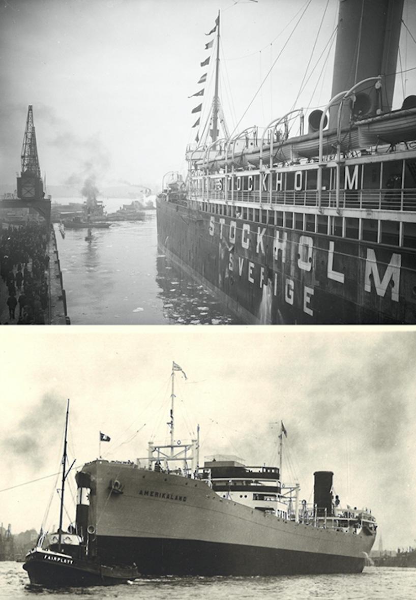 """Title - Den 11 december 1915 avgick Broströms första passagerarfartyg s/s Stockholm till Amerika. Under året bildas Broströms Linjeagentur, man förvärvar Eriksbergs Mek. Verkstad och sonen Dan-Axel Broström föds. Följande år, 1916, blir Broströms huvudägare i Götaverken. 1918 förvärvas Göteborgs Bogserings- och Bergnings AB, även känt under namnet """"Röda Bolaget"""".1923 tecknar Broströms avtal om att bygga världens största lastmotorfartyg – Svealand och Amerikaland – för transport av malm från Chile till USA. Två år senare, 1925, levereras SALs första nybygge – m/s Gripsholm.Samma år avlider Dan i en bilolycka och 100 000 göteborgare kantar stadens gator för att hedra honom. Flottan är nu över 300 000 tdw."""
