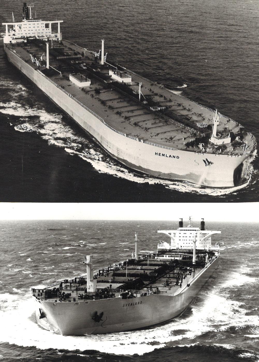 """Title - 1973 sjösätts kombinationsfartyget """"Svealand"""" om 278 000 tdw på Eriksberg – världens största torrlastfartyg. Följande år sjösätts Hemland – ett av världens största tankfartyg om hela 366 000 tdw.1975 är sjöfarts- och varvskrisen ett faktum och Eriksberg säljs till staten. Trots hårda förhandlingar, om framförallt bemanningsfrågor, tvingas även SAL att lägga ner verksamheten.1992 köps Broströms av Shipinvest och driver då ett hundratal produkttankers. 2008 köps Broströms av den världsomspännande danska koncernen A.P. Möller–Maersk, som 2012 flyttar verksamheten från Göteborg till Köpenhamn."""
