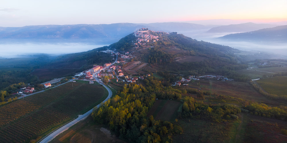 Sunrise in Motovun