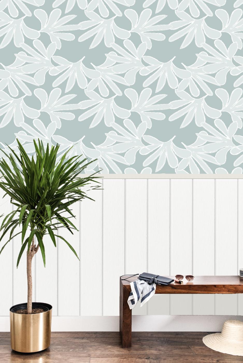 Wallpaper  Frond Happy - Sea Breeze (textured)