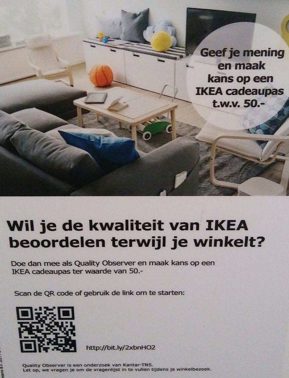 Evaluatie-oproep op het toilet van IKEA Utrecht