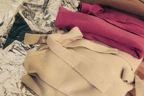 PAZZO浪漫甜美後綁帶針織毛衣