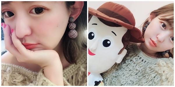 PAZZONO-068韓國星星毛球綴飾夾式耳環.jpg
