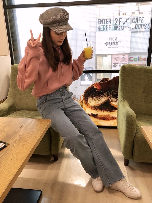 PAZZO韓妞LOOK排釦修身直筒寬褲