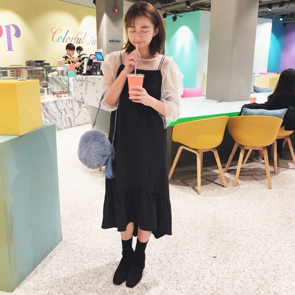 PAZZO韓國百搭率性彈性襪靴