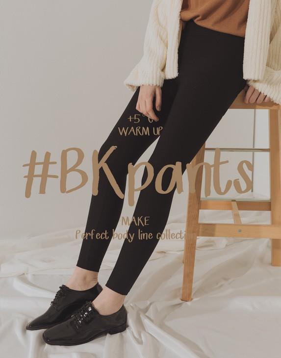 MIT #BK102 高腰經典顯瘦貼身黑褲(內刷毛)