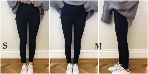 MIT#BK102高腰經典顯瘦貼身九分黑褲(內刷毛)