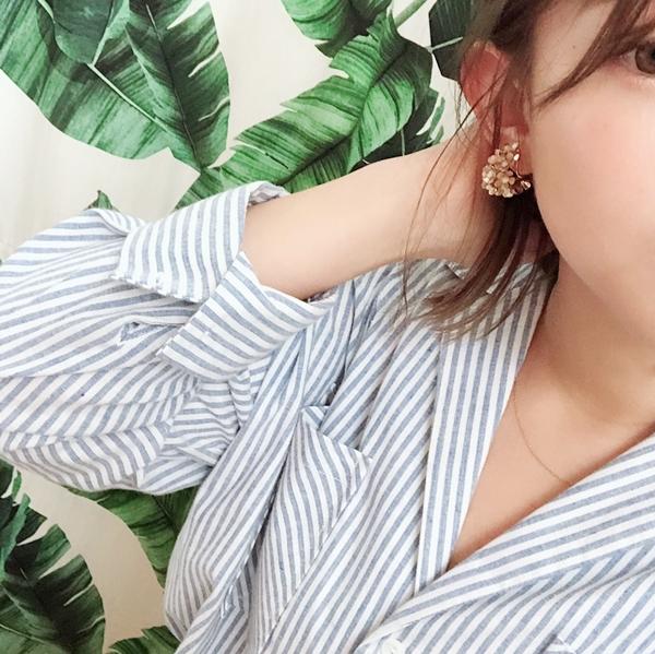 NO,083韓國珠珠點綴造型夾式耳環