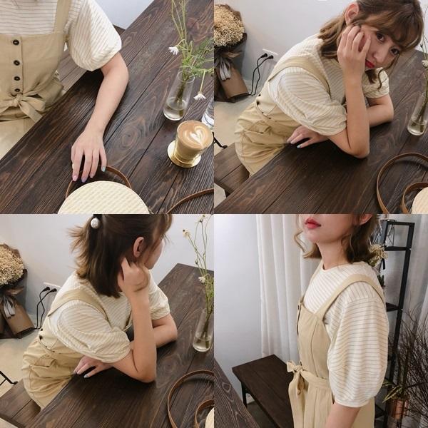 PAZZO_百搭條紋拋袖設計上衣_清新排釦綁帶洋裝0.jpg