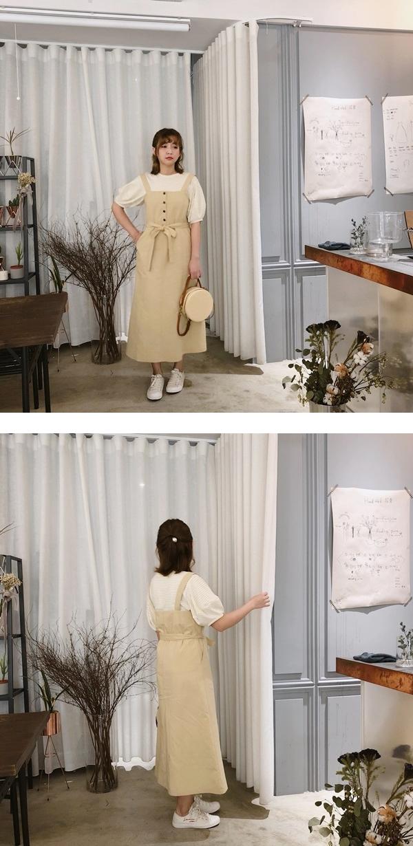 PAZZO_百搭條紋拋袖設計上衣_清新排釦綁帶洋裝 --.jpg