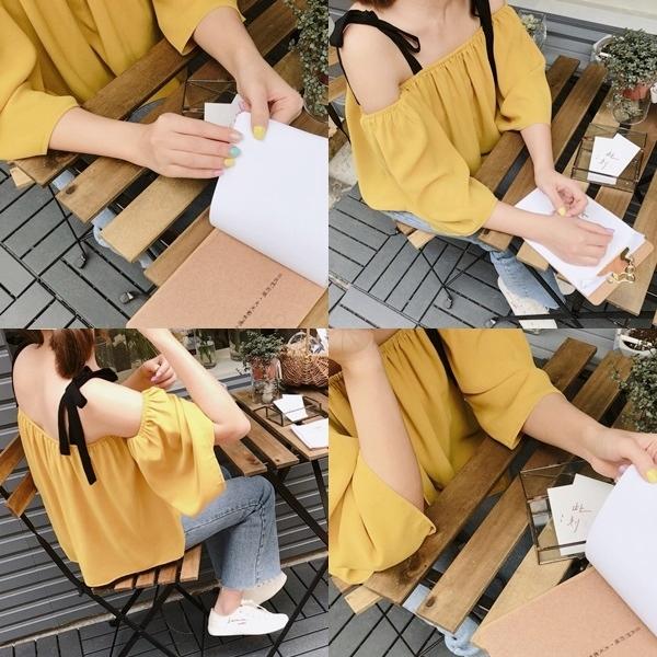 SUMMER一字領寬袖綁帶上衣 (2).jpg