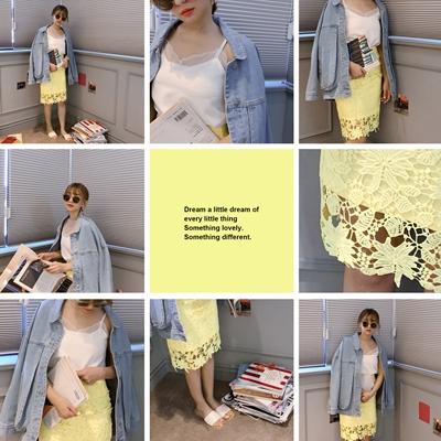 點點蕾絲小性感背心  +   時髦花邊蕾絲裙 /穿M