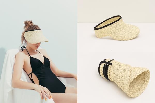 pazzo look/ 時髦配色編織感遮陽帽