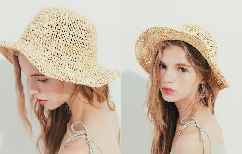pazzo look/  清新自然編織漁夫帽