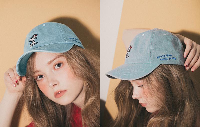 pazzo look/  SNOOPY & BELLE BELLE刺繡水洗感棒球帽