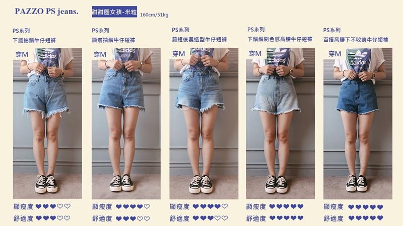 PAZZO, PS顯瘦丹寧, 夏日短褲, 甜甜圈女孩