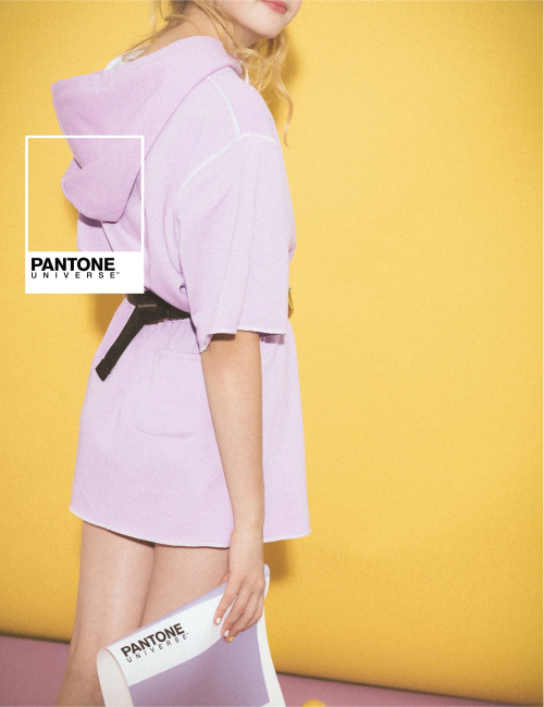 pazzo look/ PANTONE UNIVERSE MIT休閒連帽花苞裙短袖套裝