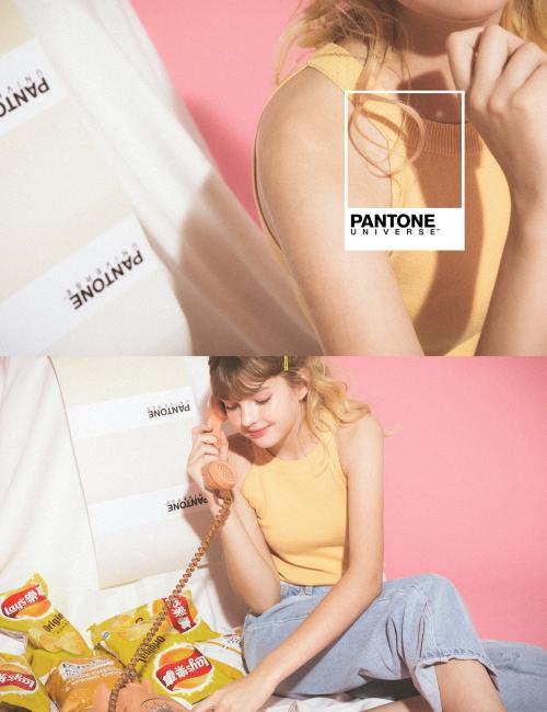 pazzo look/ PANTONE UNIVERSE 舒適修身感削肩針織背心