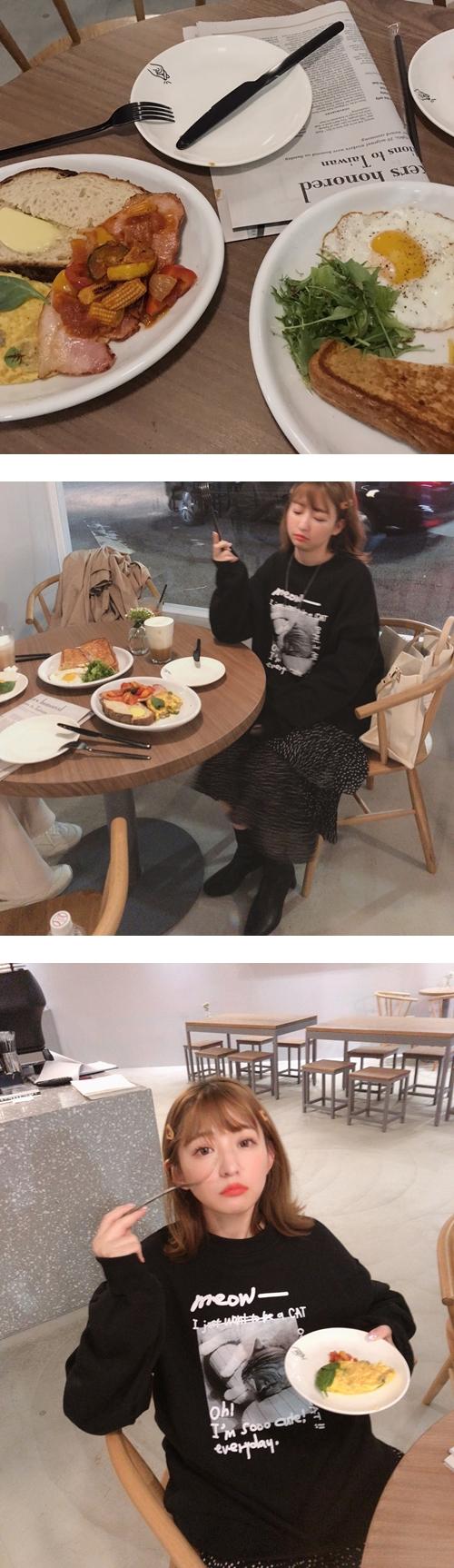 MIT mumu日常生活篇長袖上衣(內刷毛)  +  復古麂皮磨毛感髮夾(兩入組)