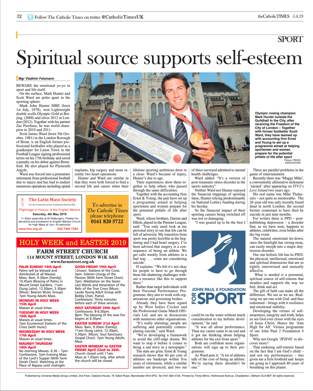 First published in theCatholicTimes 05/04/2019