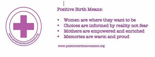 positive birth mement surbiton