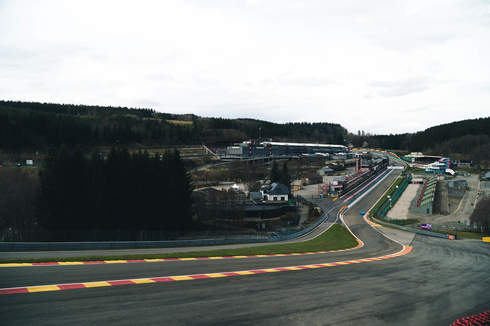 Another item off the bucket list, stand at the top of Eau Rouge.