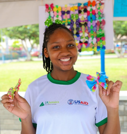 ABOUT - The Junior Achievement Company of Entrepreneurs (JACE) is one of the signature programmes offered by Junior Achievement Jamaica in partnership the Ministry of Education, Youth & Information (MOEY&I) and the United States Agency for International Development (USAID).  It is designed to give secondary and out-of-school youth hands-on experiences in business management and operations. USAID's funding support in the first three years of JACE SEED will help fast-track the programmes reach and impact.