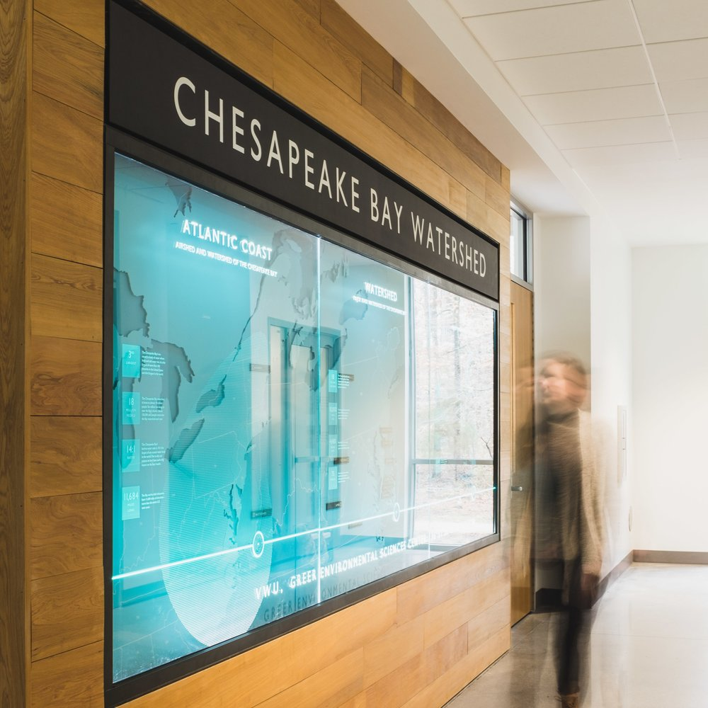 Greer Environmental Sciences Center  Wayfinding, Signage + Graphics