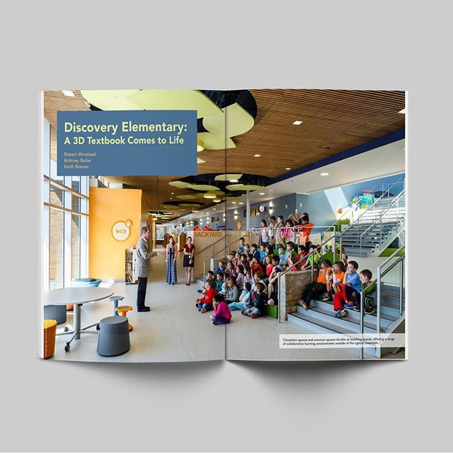 "Did your elementary school look like this?!? Read how ""A 3D Textbook Comes to Life"" at Discovery Elementary School. Coauthored by Iconograph's owner Brittney Butler for Green Schools Catalyst Quarterly, the article highlights the challenges, benefits, and outcomes of this collaborative project. Link in bio to the full article. . . . #greenschools #publication #EGD #weshapeenvironments #schooldesign #sustainableschools"