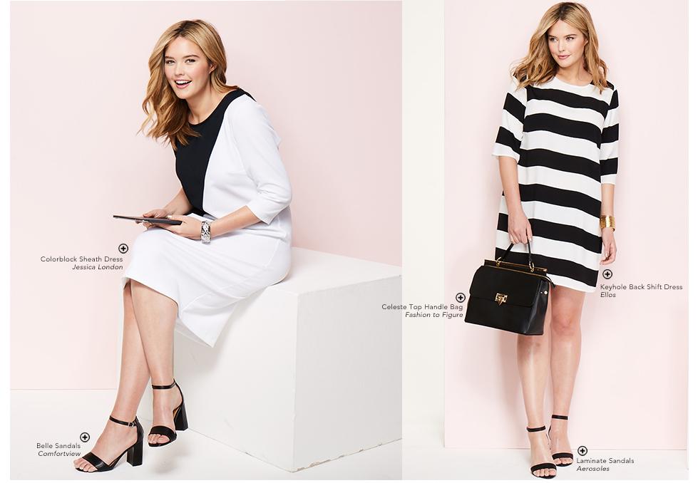 Black and white work dresses.jpg