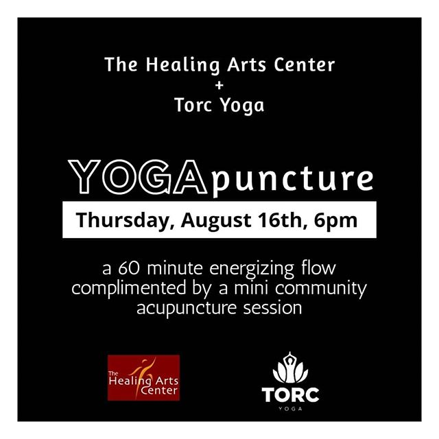 Have you ever wanted to try #acupuncture but was unsure and nervous of #relaxing and #energizing treatments? . . We have partnered with the awesome Steve Mavros, co-founder of @healingphilly, your neighborhood wellness center to offer you the best of both worlds. #Yoga and #Acupuncture. Sign up now. Spaces are very limited. $8 for Torc members, $12 for non-members.  Thursday, Aug. 16th at TORC