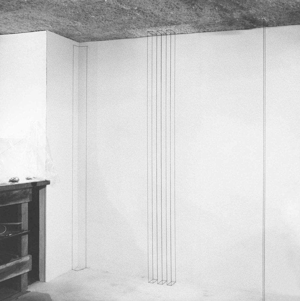 Sandback's studio at Yale School of Art and <br/>Architecture, New Haven