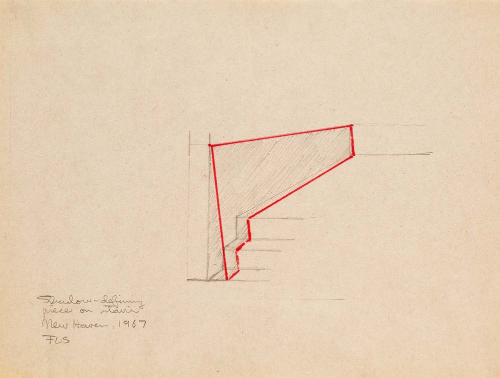 Drawing for <i>Untitled (Shadow Piece)</i>, 1967