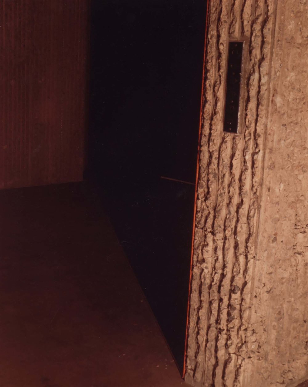 <i>Untitled (Shadow Piece)</i>, 1967, installed at Yale <br/>School of Art and Architecture, New Haven