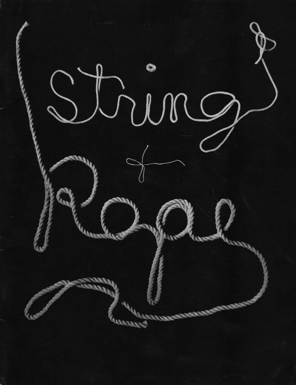 <i>String and Rope</i>, Sidney Janis Gallery, <br/>New York, catalog
