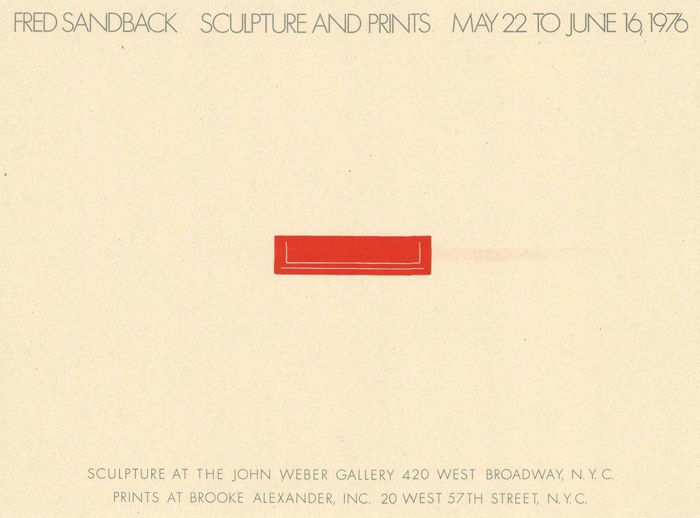 John Weber Gallery, New York, poster
