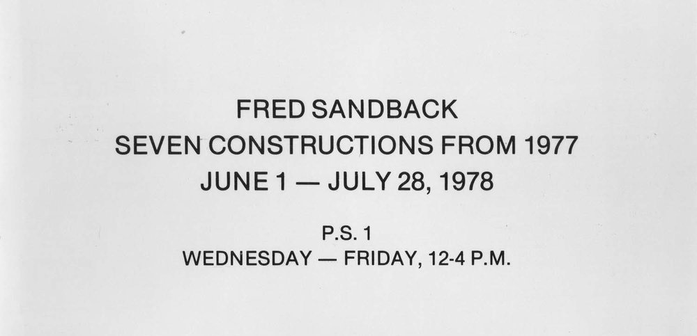 P.S.1, Long Island City, invitation card