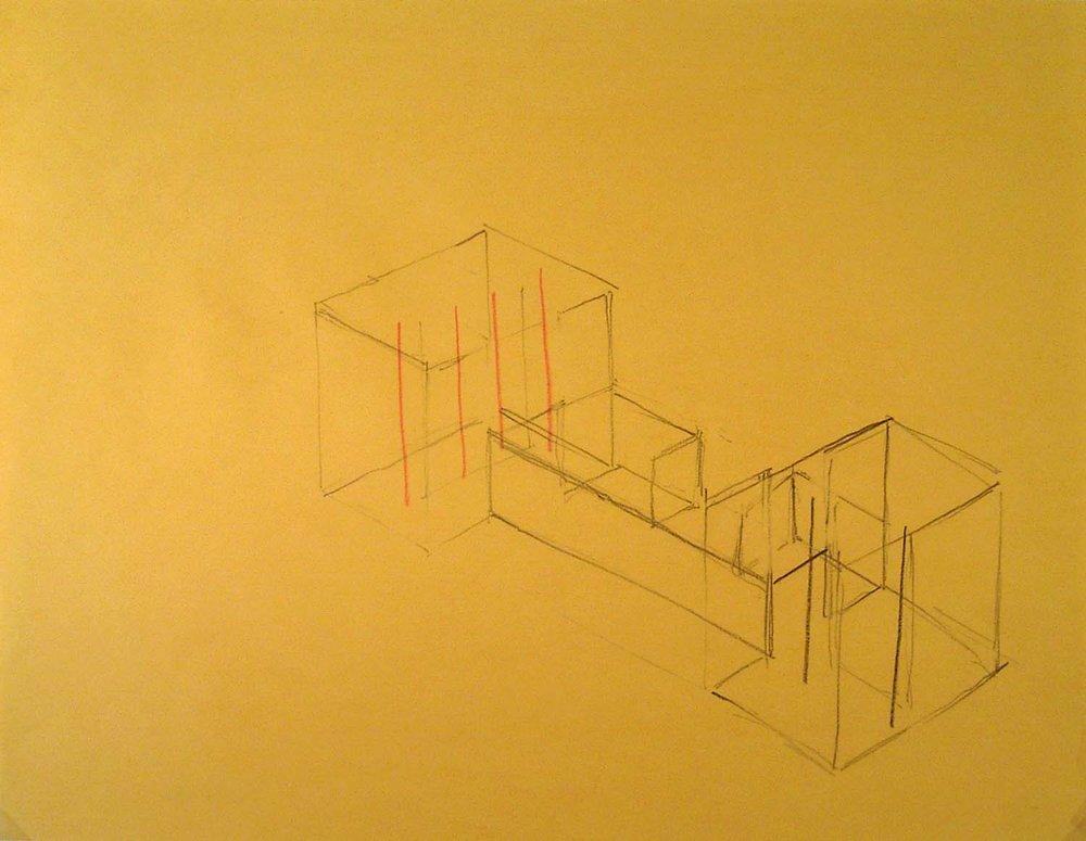 Annemarie Verna Galerie, Zurich, exhibition sketch